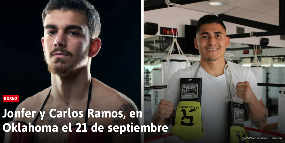 Jonfer y Carlos Ramos, en Oklahoma el 21 de septiembre